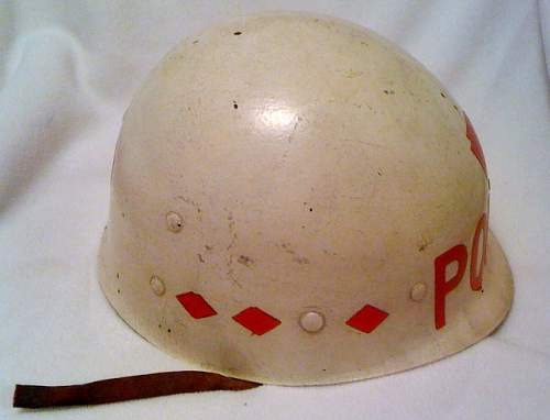 White 28th Div. police helmet