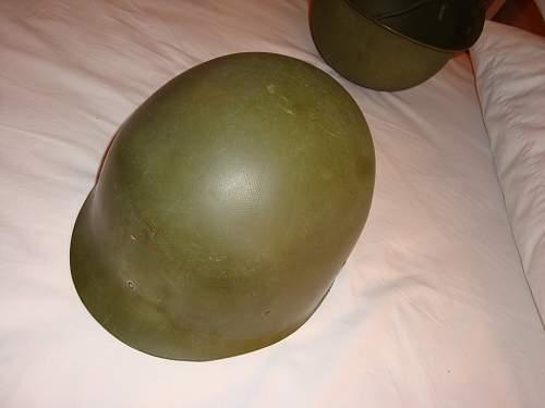 Please help identify these 2 m1 helmets