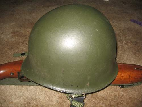 M1 helmet? Bought awhile back, questions