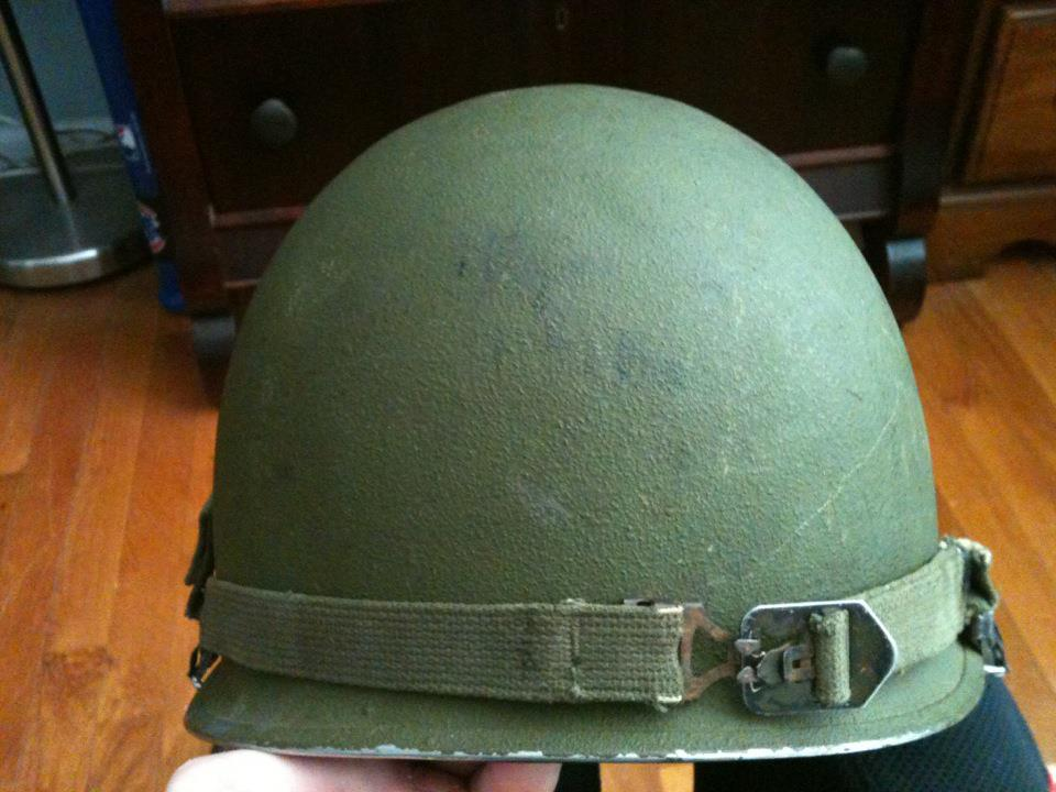 US POST WW2 KOREAN WAR ERA M1 STEEL POT HELMET LINER DATED 1953 | eBay