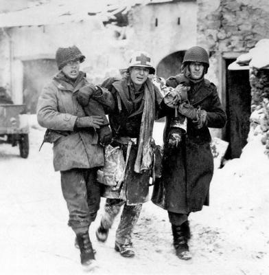 M1 snow camo medic helmet