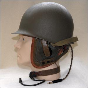 M-1 helmet with modded liner, Israeli tanker helmet