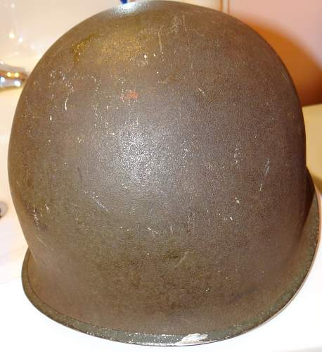 WWII Fixed Bail Helmet and LinerAny info would be appreciated
