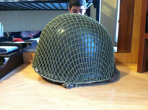 What do you guys think of my new WW2 helmet ?