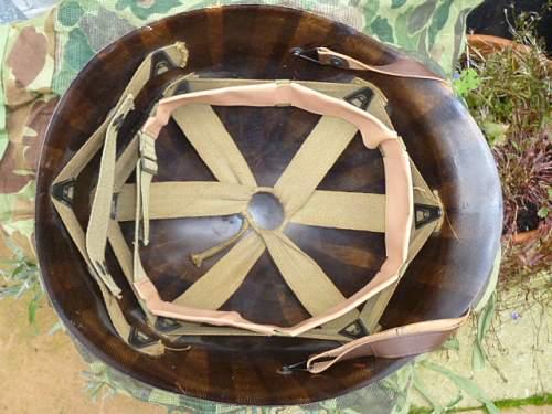 M1 helmet liner.