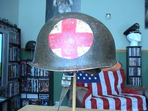 US M1 front seemed swivel bale helmet