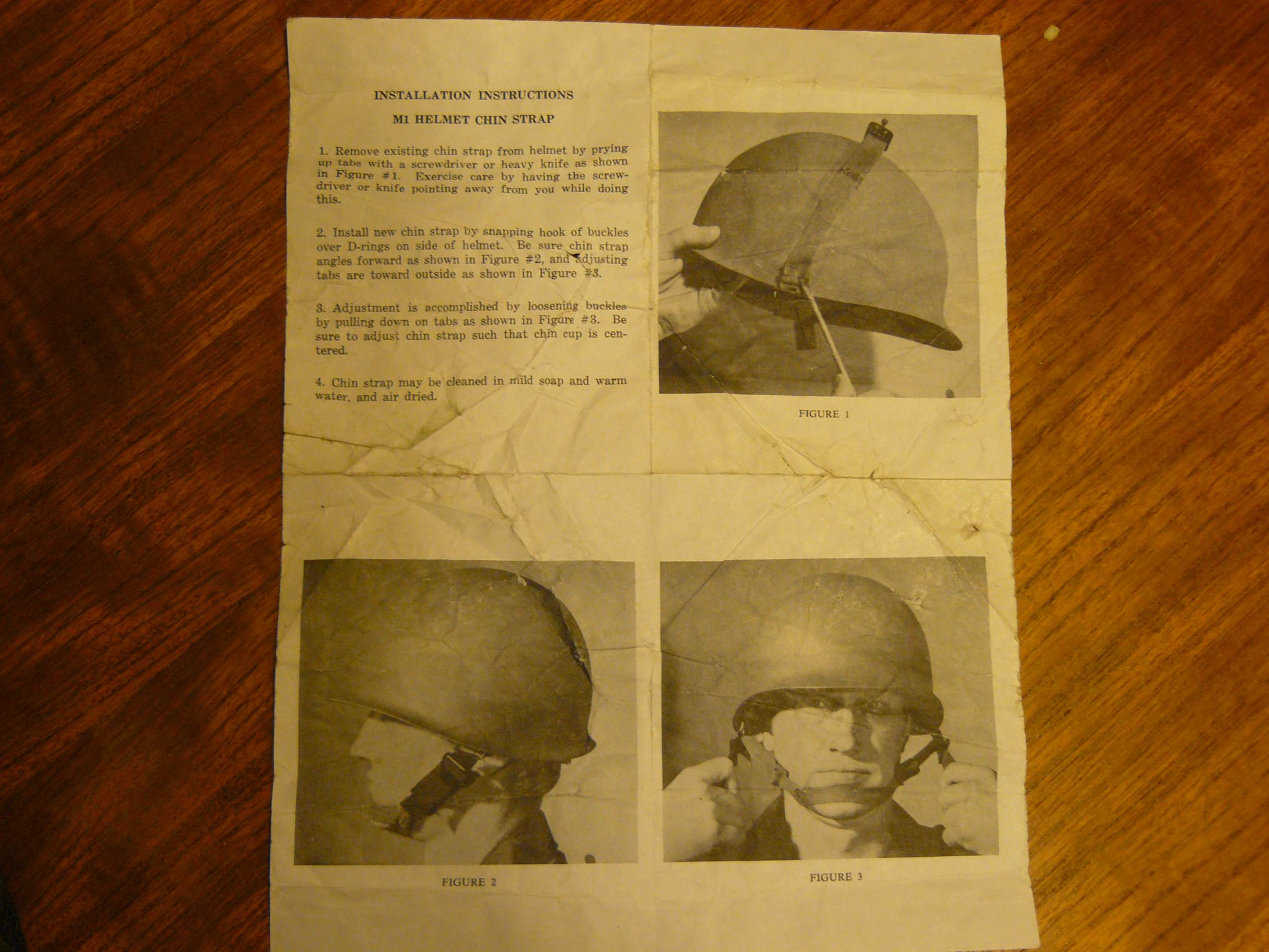 Instructions For Replacing Chinstraps On Post War M1 Helmets
