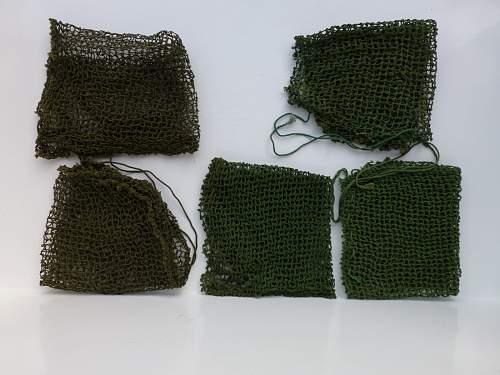 British/US helmet nets