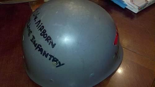 M1 Steel Helmet, Front Seam.
