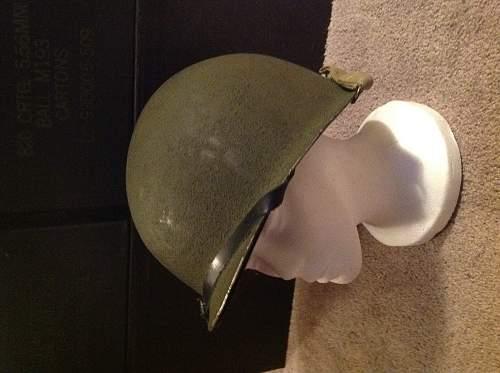 front seam M-1 helmet