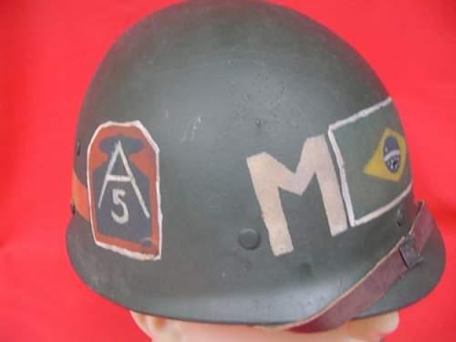 Helmet Brazilian expeditionary force ww2