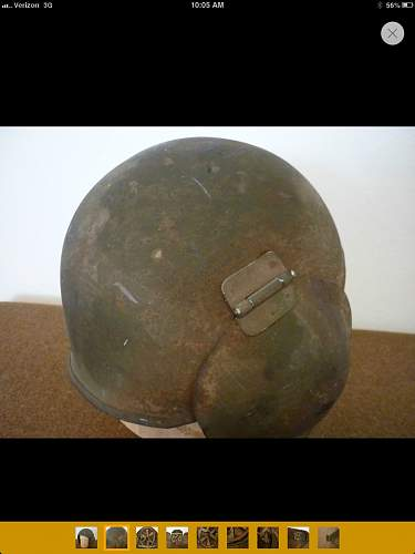 Flak helmet clips on bales?