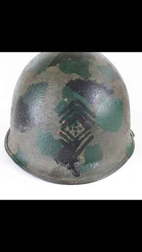 Interesting M1 helmet