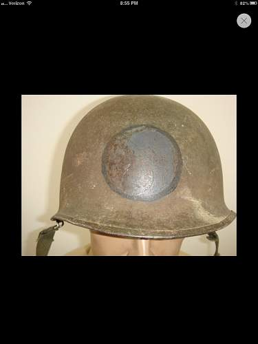 Possibly 29th infantry division helmet