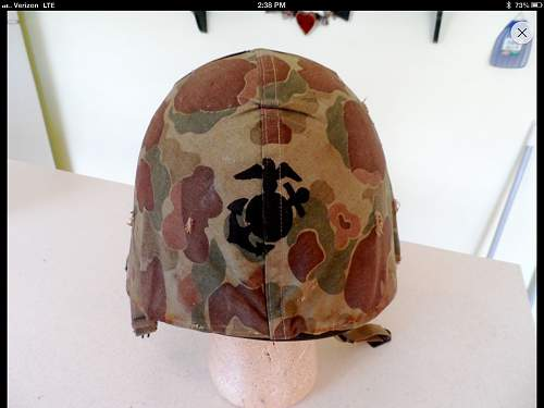 real m1 marine helmet cover?