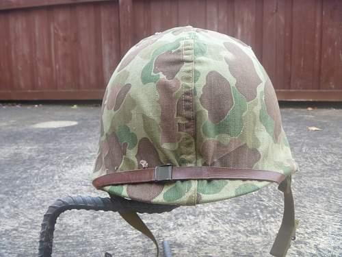 usmc ww2 helmet and cover.