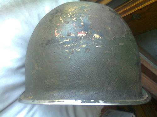 M1 helmet, 88th division, Po valley, Italy.