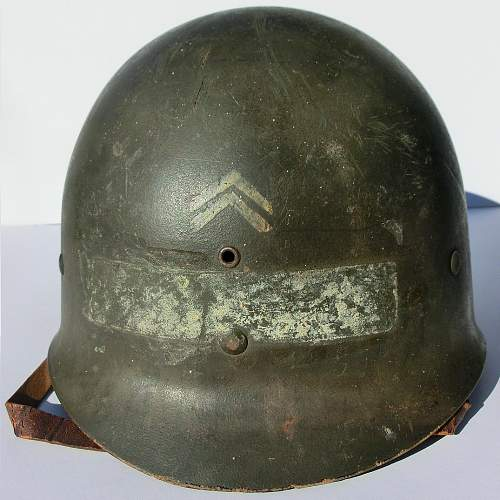 Corporals M1, front seam fixed bail.