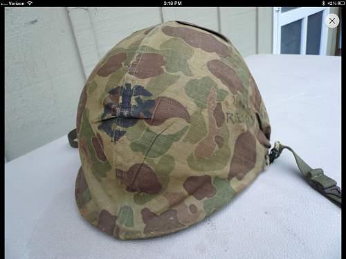 ww2 usmc helmet maybe to 2nd recon