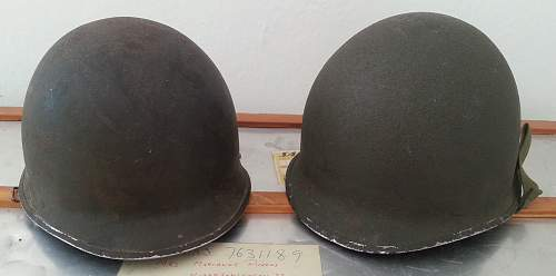 Two new M1 helmets in my collection