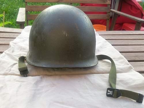 M1 airborne helmet: Korean era?