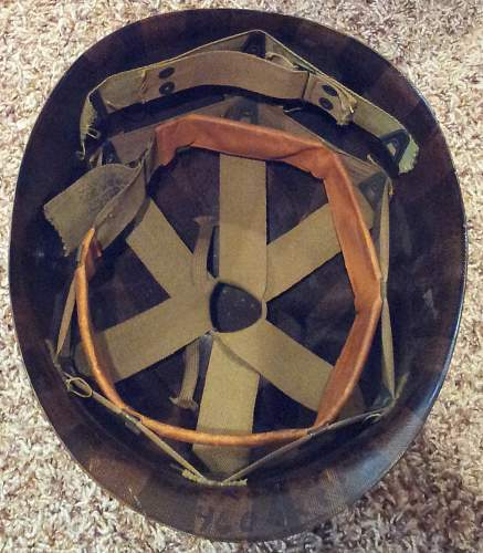 US M1 Fixed Bail and Front Seam Helmet