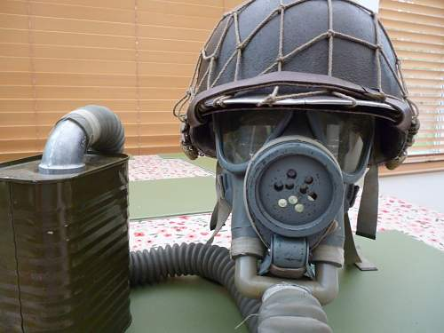 M1 fixed bale with m3 diaphragm gas mask.