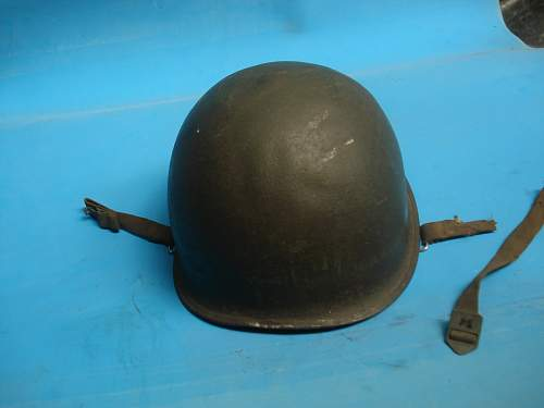 this helmet is the second war? rear seam and Internal numbering