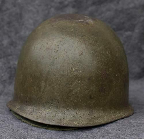My first US M1 Combat Helmet Front Seam