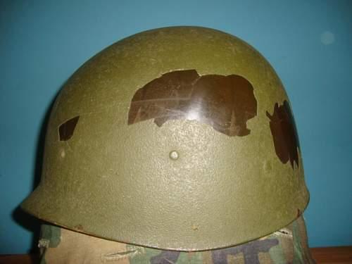 Helmet -Strange mix of M1 parts