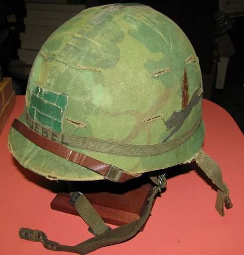 Vietnam Era M1 helmets.