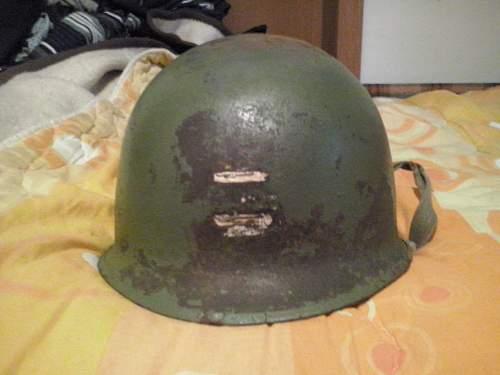 M1 helmet with strange painted insignia
