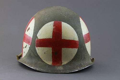US medic M1 helmet