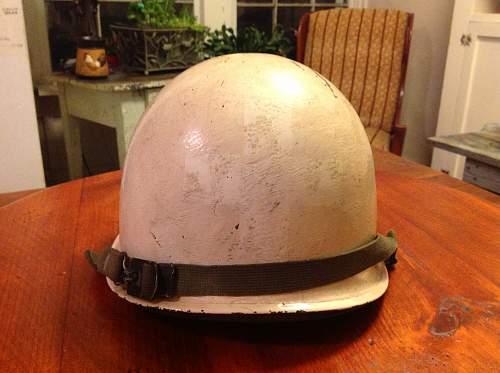 Late war corpsman or medic helmet