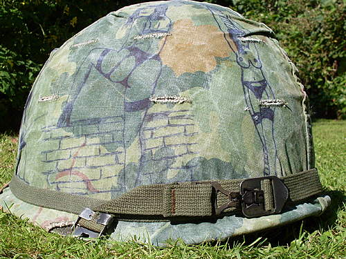 Vietnam ground troop infantry helmet no 1.