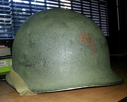 US M1 WWII fixed bale,front seam atlast