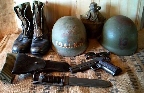 Vietnam War USN M1 helmet  shipboard grey