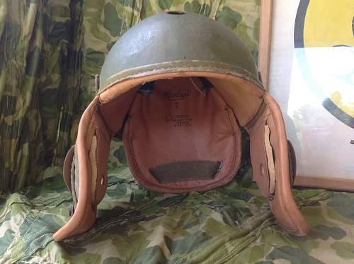 Writing on m-1938 tanker helmet