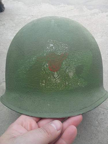 Painted M1 Helmet