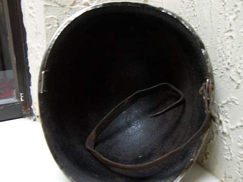thought's on this ww2 m1 fixed bale front seam helmet