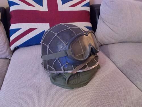 Debate on ww2 Dennison helmet nets?