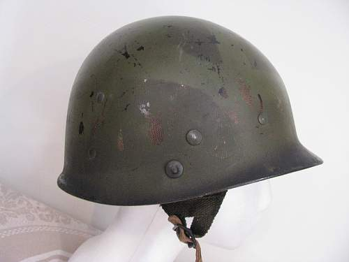 M1-C Rear Seam Paratrooper Helmet - 82nd Airborne