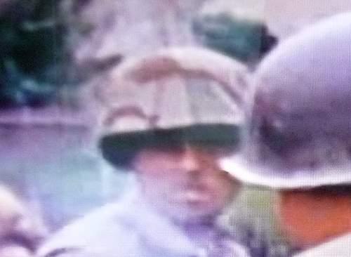 Interesting M1 helmet cover