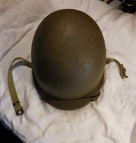 M1 Helmet - Fixed Bale, Front Seam
