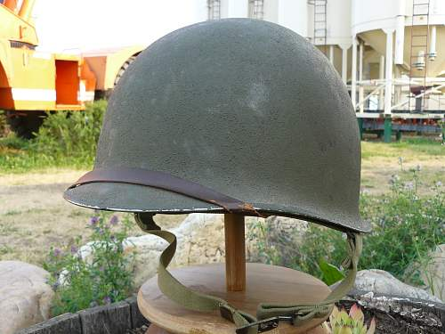 US M-1 Heat Stamps as Found on WW II Canadian Issued helmets With Provanance