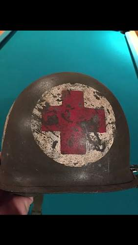 post ww2 medic helmet
