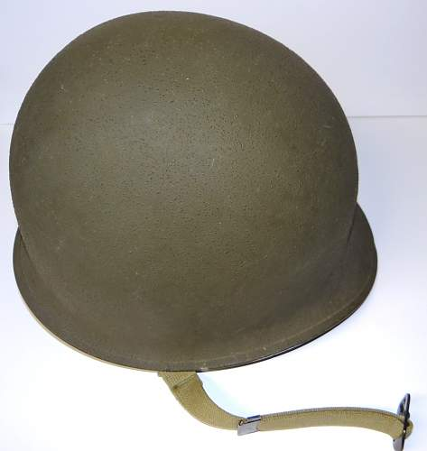 Reference: Unissued example front seam fixed loop m1 helmet heat lot 299a