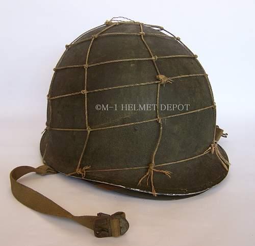 Ww2 marine hand made helmet net......