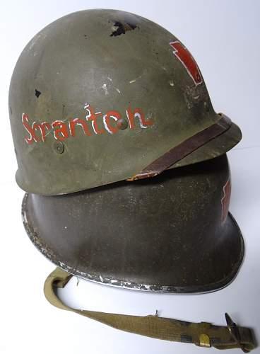 Painted 28th division fb helmet