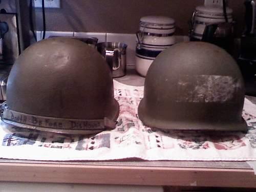 Vn era US M1 and Us M1 training helmet??
